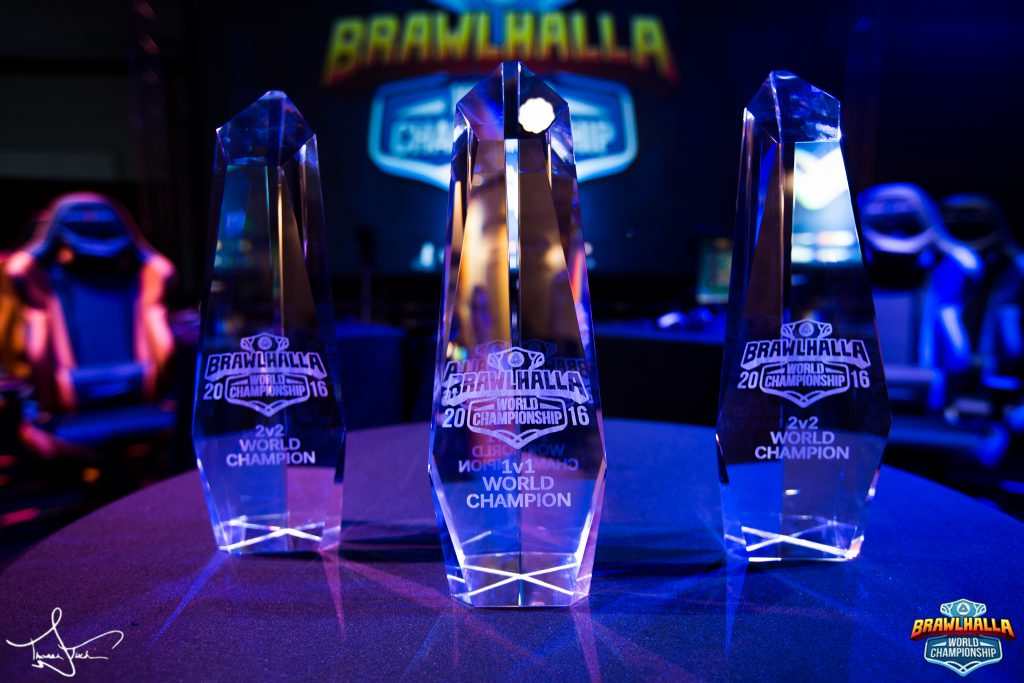 The Brawlhalla World Championship Trophies