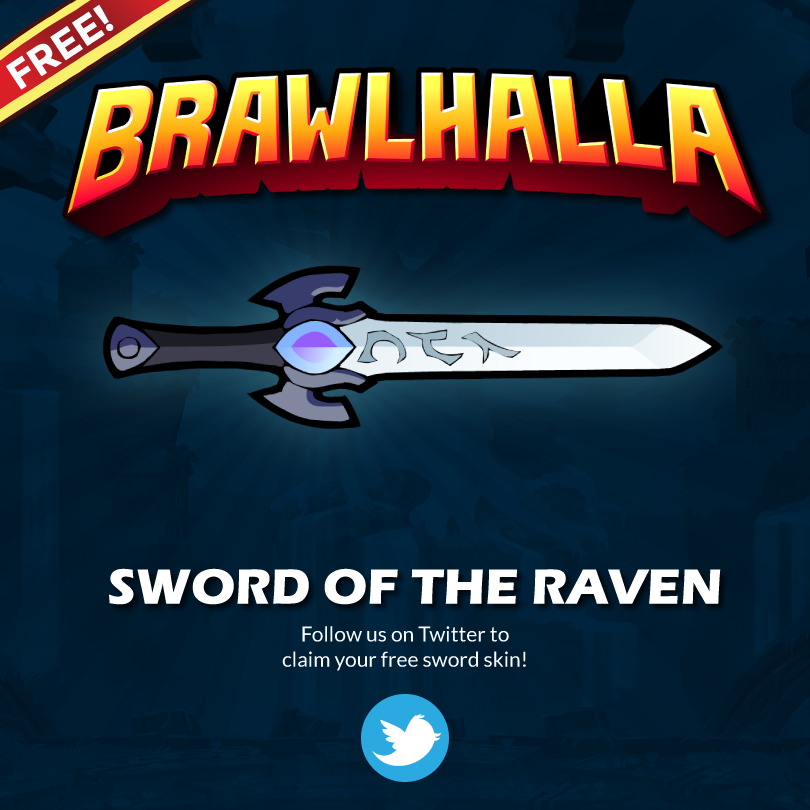 Follow Brawlhalla On Twitter to Receive a Free Skin Code!