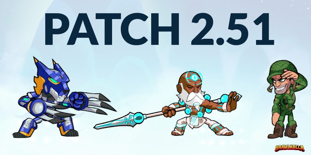 Brawlhalla :: Patch 2 51 - Salute Taunt Return, New Skins, and More!