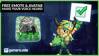 Get a free Vote Emote and Avatar and help the Brawlhalla community be heard November 3rd