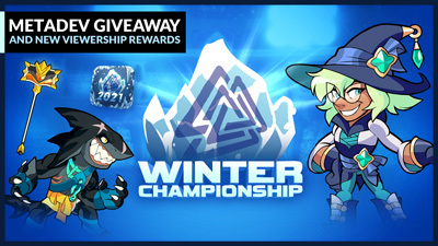Winter Championship begins this weekend! Earn the Hammer of the Regal Sun by watching on Twitch